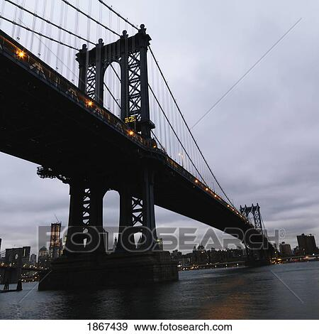 Manhattan Bridge Manhattan New York City New York Usa Stock