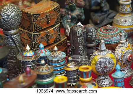 Stock Photo Of Various Handicrafts Displayed On A Table Thimphu