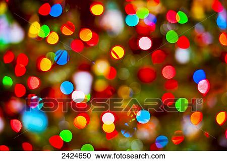 abstract view of blurred christmas lights - Blurred Christmas Lights