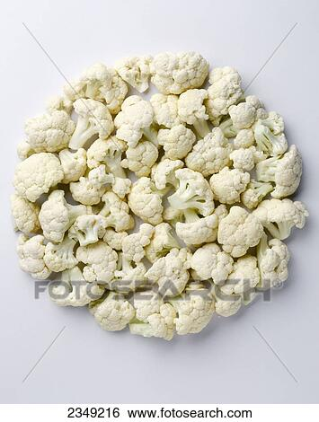 Banque D Images Agriculture Chou Fleur Fleurons Voyante Sur
