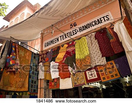 Stock Images Of Clothes Display At Market Jaipur India 1841486