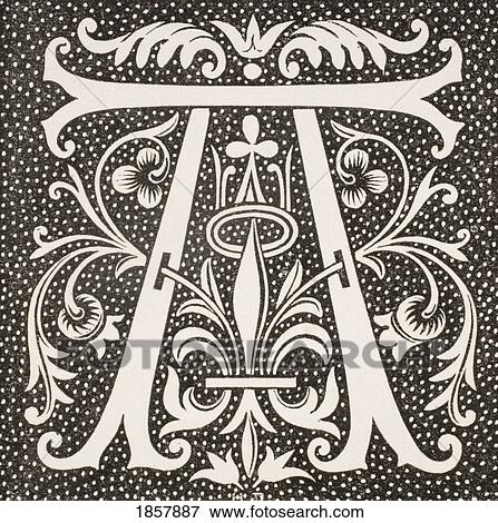 Decorative Letter A.Decorative Capital Letter A Stock Photo 1857887 Fotosearch