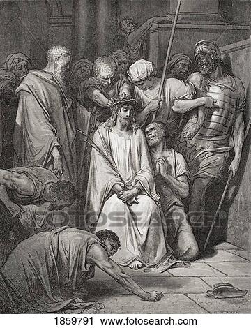 Stock Photography Of Engraving From The Dore Bible Illustrating