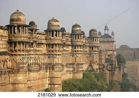 Banque De Photographies Gwalior Fort Gwalior Madhya Pradesh
