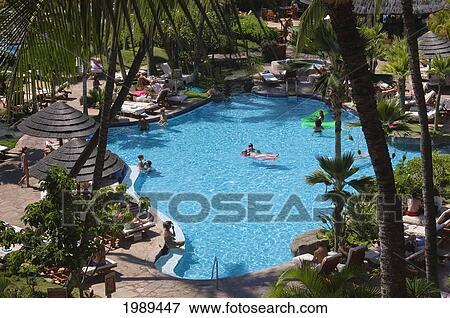 Hawaii Maui Kaanapali Beach Swimming Pool At The Westin