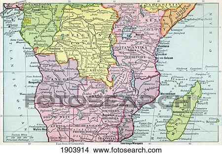 Modern Map Of Africa.Map Of Central Africa Circa 1930 From The Modern Atlas Of