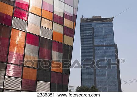 stock photography of modern buildings in sanlitun village beijing