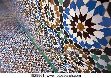 Archivio fotografico mosaico dettaglio di pavimento e