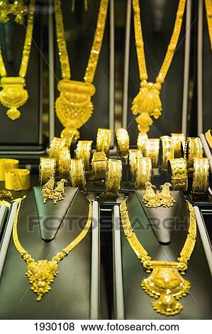 of UAE Al Ras Gold Souk Dubai Rings and necklaces in
