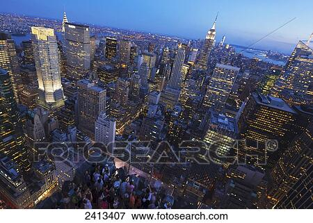 View Of Midtown Manhattan From The Top Of The Rock Observation Tower