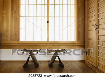 Awe Inspiring Zen Temple Seats In Front Of A Window Koyasan Wakayama Japan Stock Image Gmtry Best Dining Table And Chair Ideas Images Gmtryco