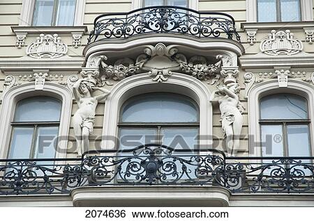 stock images of art nouveau building designed by mikhail eisenstein