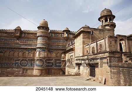 Images Fort Homme Singh Palais Gwalior Madhya Pradesh Inde