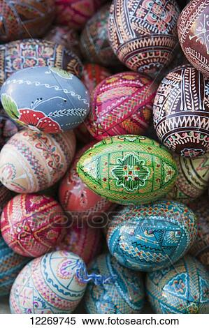 Hand Decorated Eggs On A Craft Stall On Andriyivsky Uzviz Andre S