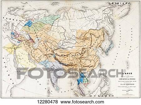 Map Of Asia Over Time.Map Of Asia At The Time Of The Greatest Extent Of The Domination Of