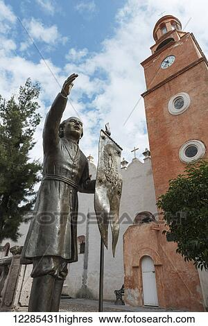 Statue And Sistine Chapel Of Mexico Guanajuato Mexico Stock Photograph 12285431highres Fotosearch