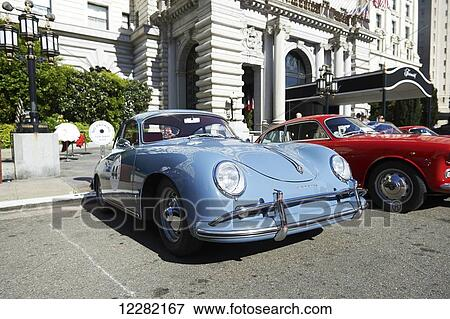 Picture Of Vintage Porsche In Front Of Fairmount Hotel Nob Hill