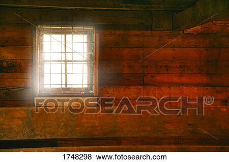Window Inside A Barn