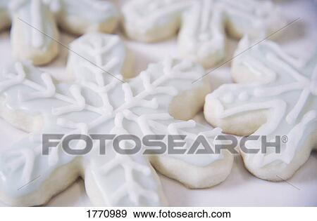 Snowflake biscuits Stock Photo