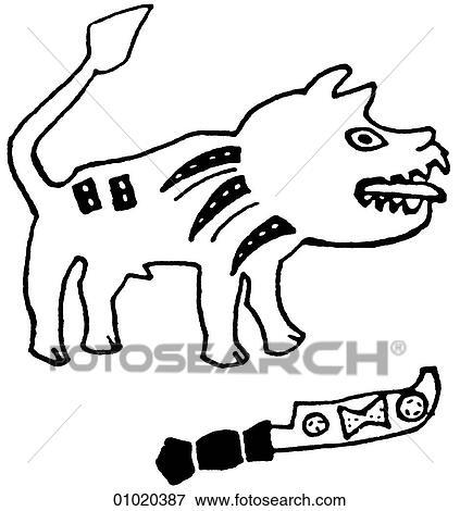 Stock Illustration Of Signs Symbols Line Art Africa Symbol Of