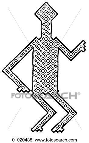 Stock Illustration Of Signs Symbols Line Art Africa Woven Mat