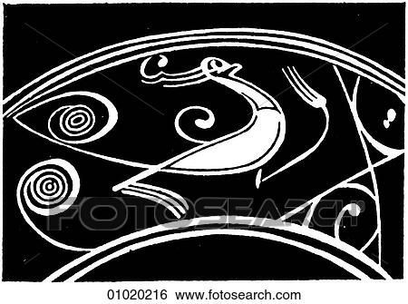 Stock Illustration Of Signs Symbols Line Art China A Phoenix On