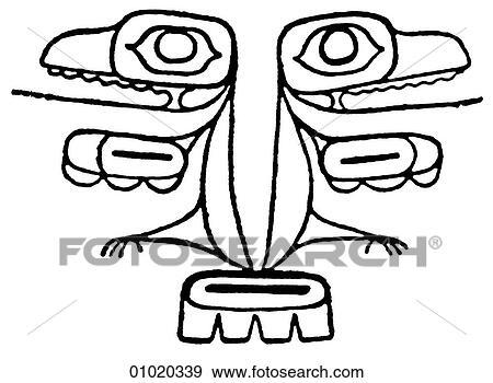 Stock Illustration Of Signs Symbols Line Art Pacific Canada