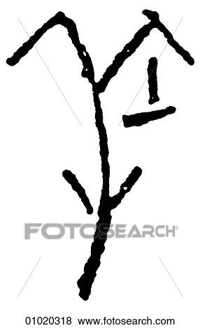 Stock Illustration Of Signs Symbols Line Art Pictographs Of The