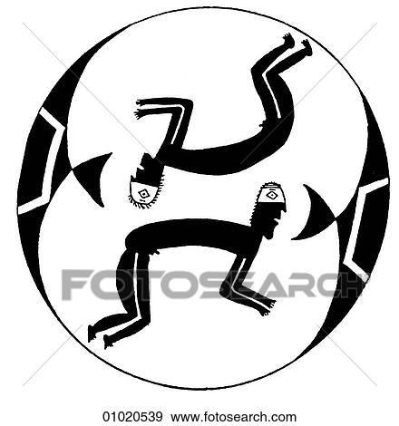 Stock Illustration Of Signs Symbols Line Art The Americas