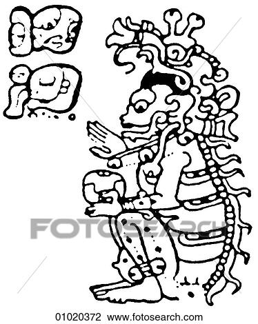 Clip Art Of Signs Symbols Line Art The Mayan Religion Possessed