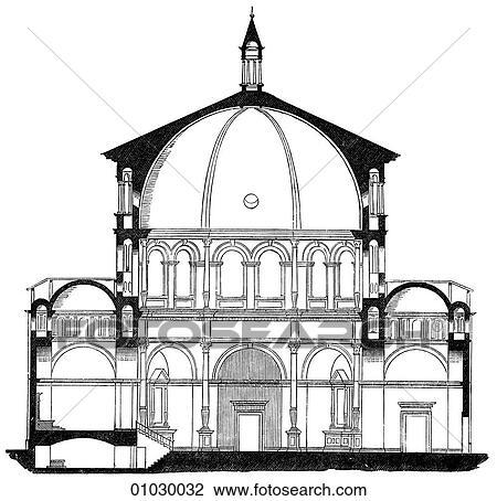 clip art of architecture italy line art f3 section renaissance