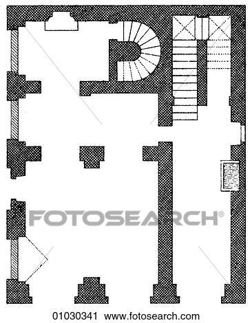 Clipart - architettura, -, italia, -, art linea, (k3), piano ...