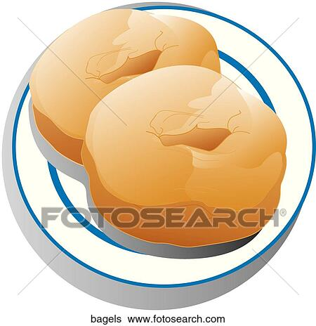 stock illustration of bagels bagels search clip art drawings rh fotosearch com bagel clipart vector bagel clip art free
