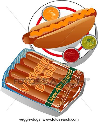 Veggie Hot Dogs Clip Art