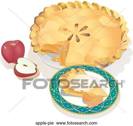 Clipart tarte aux pommes apple pie recherchez des clip arts des illustrations des dessins - Dessin de tarte aux pommes ...