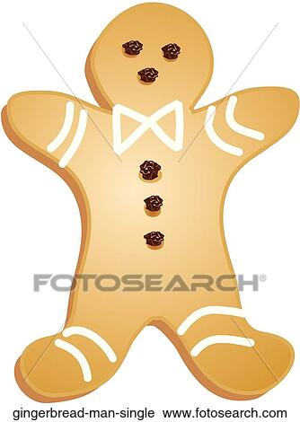 Clipart Of Gingerbread Man Single
