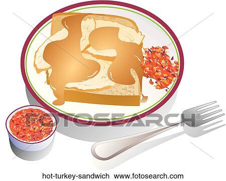 Clip Art Heißes Truthahn Sandwich Hot Turkey Sandwich Suche