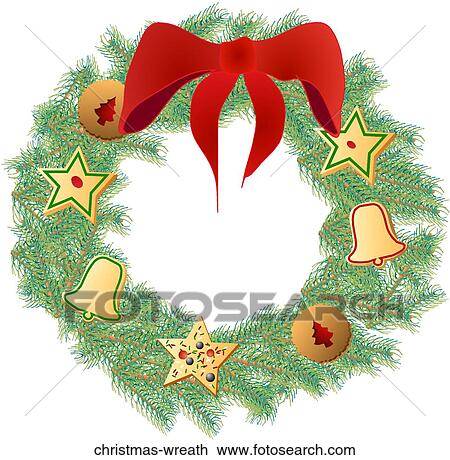 Noel Couronne Dessin Christmas Wreath Fotosearch