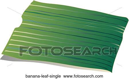 Clipart Of Banana Leaf Single