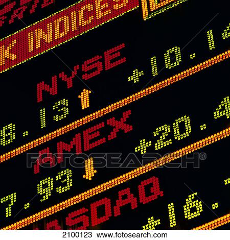 Stock exchange data displayed on screen, New York Stock Exchange, Wall  Street, New York City, New York State, USA Stock Image