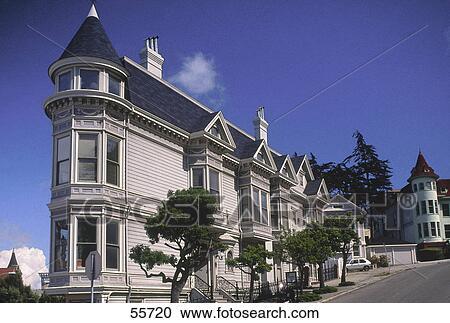Stock Fotografie Viktorianischer Stil Haus In Stadt San
