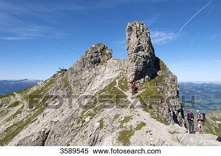Klettersteig Deutschland : Stock bild hindelanger klettersteig nebelhorn allgäu