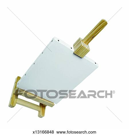 Pictures Of Elevated View Of An Easel X13166848 Search Stock