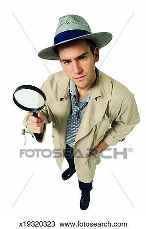 Ritratto di uno investigatore privato archivio immagini