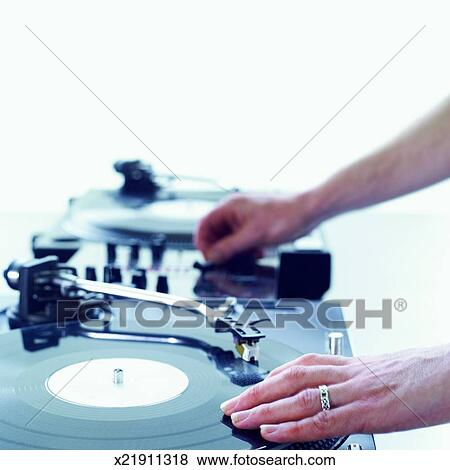 pictures of dj hands mixing on decks x21911318 search stock photos
