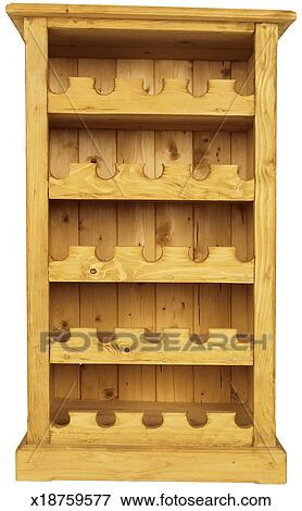 A Wooden Wine Rack Stock Photo