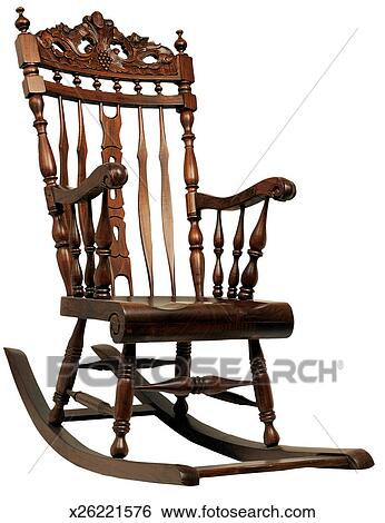 Fine Wooden Rocking Chair Stock Photograph X26221576 Fotosearch Bralicious Painted Fabric Chair Ideas Braliciousco