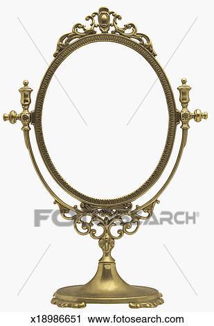 An Antique Mirror Frame