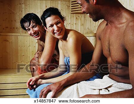 jungen in der sauna