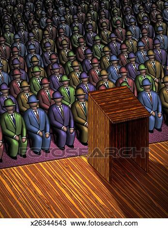 Oratoria Dibujo | x26344543 | Fotosearch